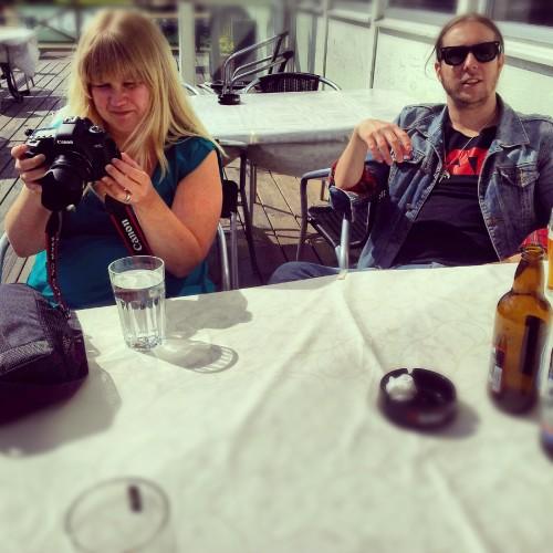 Pernilla & Sebastian met up with us.