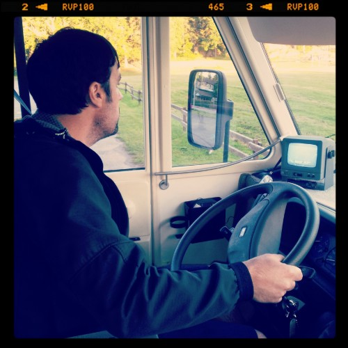 Jon drives the Camper van