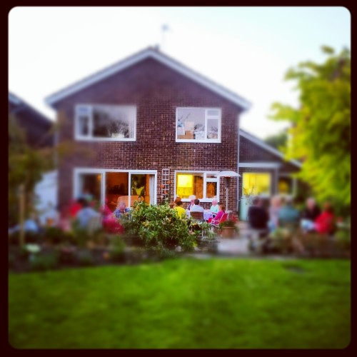 Lovely sunny day and the Williams invited loads of people for a barbecue in their lovely garden