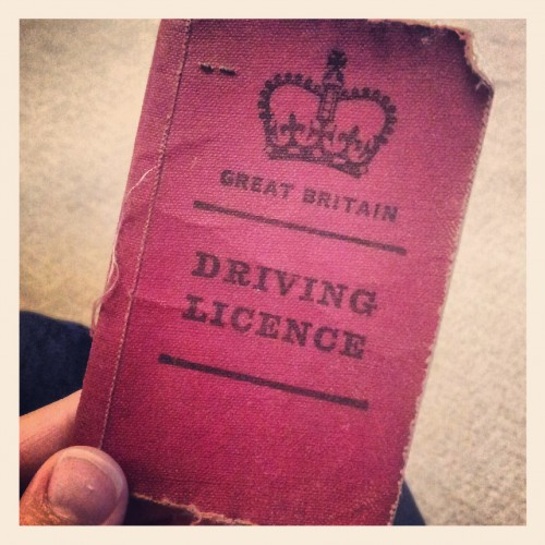 someone's old driver's license